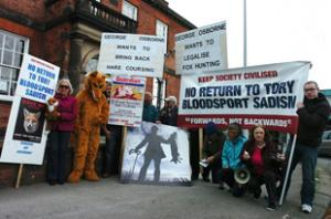 Animal rights protest at George Osborne's office
